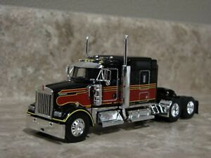 DCP 1/64 Black Maroon Kenworth Semi Truck Farm Toy