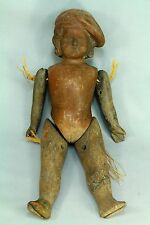 * Early Antique 1700's French Terra Cotta Jointed Articulated Doll Pottery Toy