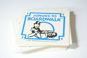 Advance to Boardwalk board game replacement part pieces - 28 fortune cards