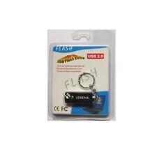 SERENA 8GB USB METAL Keychain PEN / FLASH DRIVES BLACK