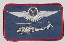 Ricamate patch namemsschild ELICOTTERO BELL uh-1d bordo meccanico Oro... a3629