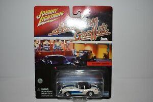 Johnny Lightning American Graffiti 1957 Chevy Corvette White & Blue 2001 MOC