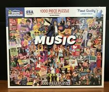 NEW SEALED - MUSIC - White Mountain 1000 piece Puzzle  #1464  / 2019