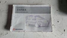 VAUXHALL ZAFIRA A OWNER'S MANUAL AUDIO MANUAL & POUCH