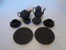 Wedgwood English China - Black Basalt - Children's Tea Set - 8 Piece Set