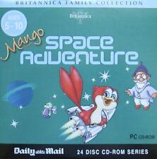 BRITANNICA MANGO SPACE ADVENTURE PC CD ROM AGE 5-10