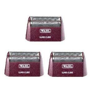 (3) WAHL 5 Star Series Shaver/Shaper Super Close Foil Replacements - SILVER