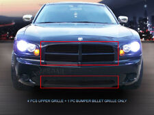Fits 05-10 Dodge Charger Black Billet Grille Grill Combo Grill