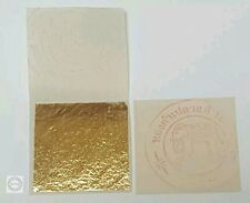 PURE 24K GOLD LEAF SHEET BOOK OF 50, FOOD GRADE EDIBLE,DECORATING,ART 3.5x3.5cm