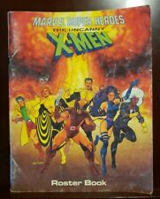 Marvel Super Heroes TSR The Uncanny X-Men Roster Roleplaying Game RPG Book