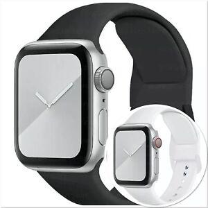 Apple Watch iWatch Series 5 4 3 2 1 38/40/42/44mm Soft SILICONE Sport Strap UK
