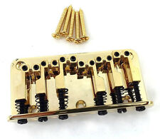 "Gold Custom Cast ""L"" Saddle Top Load Hardtail Guitar Bridge GB-LSAD-G"