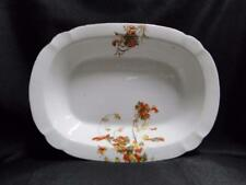 """Schwalb Brothers (BSM), Coral Flowers: Oval Serving Bowl 9 7/8"""" As Is, Design #1"""