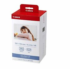 Multipack originale 3 cartucce e 108pz carta fotografica x CANON SELPHY CP-1200