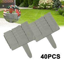 More details for 10 /40pcs plant border modern grey cobbled stone plastic 2.5m garden lawn edging