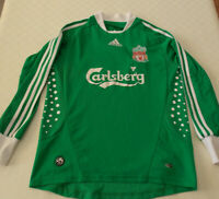 Liverpool FC Goalkeepers Shirt Jersey 2008-2009 Green 32-34 Small Adult