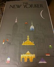 """The New Yorker 1979  offset lithograph  """" New York at Night """" R.O. Blechman"""