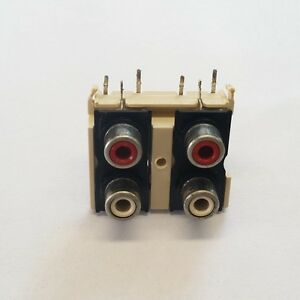 RCA connector 4-WAY red white - RetroAudio