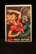 "Vintage 1962 Mars Attack Trading Card ""Prize Captive"" #21 Key Card VG EX"
