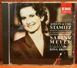 CD Johann & Carl Stamitz Klarinettenkonzerte Meyer Marriner Academy EMI 1993 EX