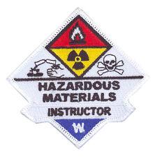 Hazardous Materials Haz Mat Instructor Uniform Patch Firefighter Rescue