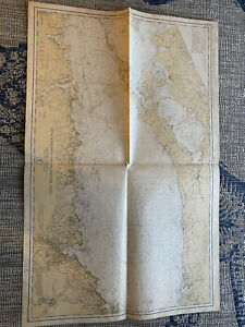 Original Nautical Chart Map Long Island Sound Eastern Part Issued 1934