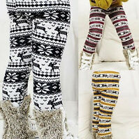 Winter Baby Kids Girls Fleece Bottom Leggings Warm Thick Lined Pants Trouser
