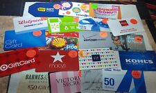 LOT OF 38 Assorted GIFT CARDS NO VALUE-GREAT FOR Craft /COLLECTORS - No Dups