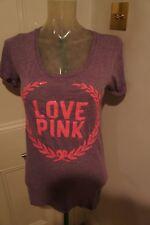 Victoria Secrets Pink sequin t shirt in purple sz S