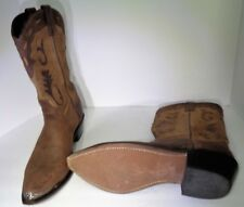 Custom Made  Boots Chocolate Brown Leather Cowboy Western Mens Shoes 12D