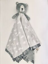 Cloud Island Security Blanket Gray Bear Trees Baby Lovey Toy Oversized 30x30