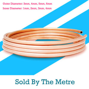 3-6mm OD Soft Copper Pipe Tube Coils Plumbing Microbore Water Gas DIY