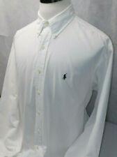 Ralph Lauren Blake Pony White Cotton L/S Button Down Dress Shirt Mens XL