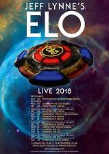 "JEFF LYNNE'S ELO ""LIVE 2018"" UK CONCERT TOUR POSTER - Electric Light Orchestra"