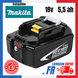 Batterie Pour Makita 18V 5.5Ah Indicateur LED Li-ion BL1860B BL1850 BL1815 BL184