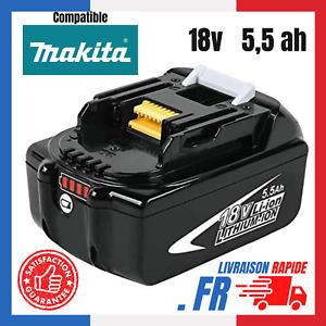 Batterie Pour Makita 18V 5.5Ah Chargeur LED BL1860 BL1850B BL1850 BL1840 BL1830