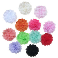 10PCS Satin Flowers for Headbands DIY Flower Hair No Hair Clip Hair Bows B2 P2H7