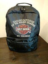 Harley Davidson St Thomas Virgin Islands Black Nylon BackpackLaptop Helmet Bag