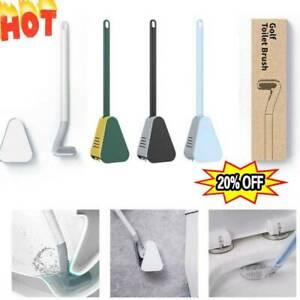 Golf Toilet Brush Long Handled Toilet Brush Wall Mounted Silicone Toilets Brush