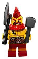 LEGO ® MINIFIGURES SERIE 17 BATTAGLIA NANO (col295) + FOGLIO NUOVO