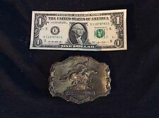 The Pony Express 50 year Anniversary brass belt buckle