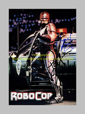ROBOCOP MOVIE CAST x2 PP SIGNED POSTER 12X8