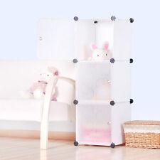Furniture Bookcase Storage Cabinet Shelf Closet Cube Organizer White 3 Cubitbox