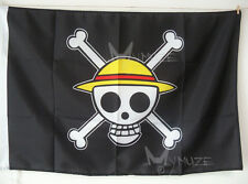 Small Size 27''x17'' One Piece Luffy Cosplay Flag Straw Hat Going Merry Gift