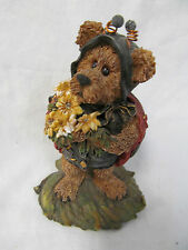 "Boyd's Bears Bearstone Collection ""Tweedle Bedeedle Stop & Smell"" Figurine w/Box"