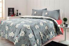 4 tlg Bettwäsche Bettgarnitur 100% Baumwolle Kissen Decke 200x220 cm ALINA