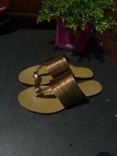 Bruno Premi exklusive Sandalette Zehen Pantolette Gold Gr.37 38 NP 99.-€ Neu