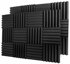 """A2s Protection 24 Pack Acoustic Foam Panels 2"""" X 12"""" Soundproofing Studio Wedge"""