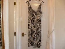 Debenhams Brown/Cream Patterned Sleeveless Dress - Size 20 - Unworn
