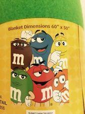 """M & M's Blanket 50"""" x 60"""" Fleece New"""